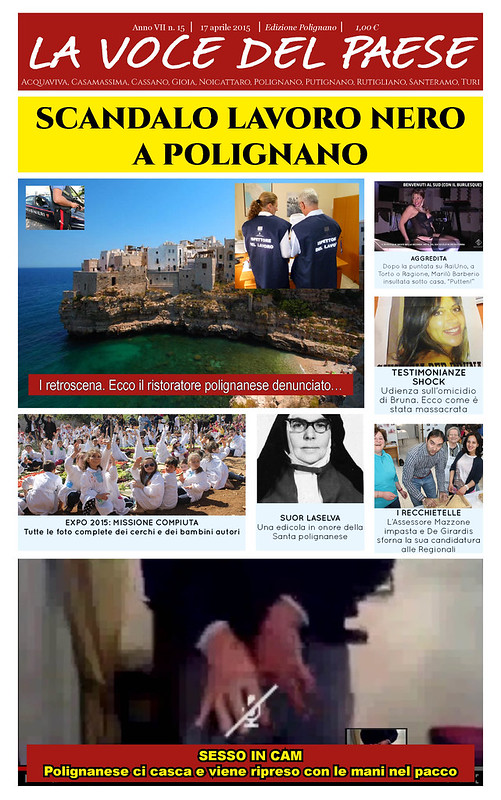 Polignano 17 aprile 2015 copertina