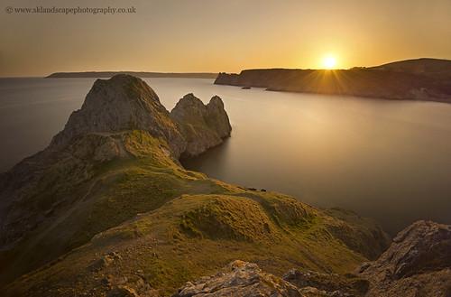 camping sunset water swansea wales bay coast three high sandra path walk south tide ngc cliffs april gower peninsula fotosandra kepkowska