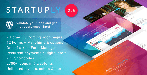 Startuply v2.5.5 - Multi-Purpose Startup Theme