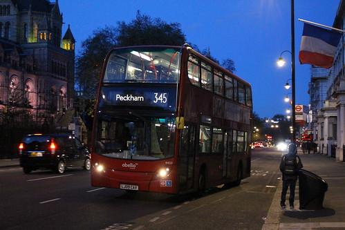 Abellio London 9432 on Route 345, South Kensington