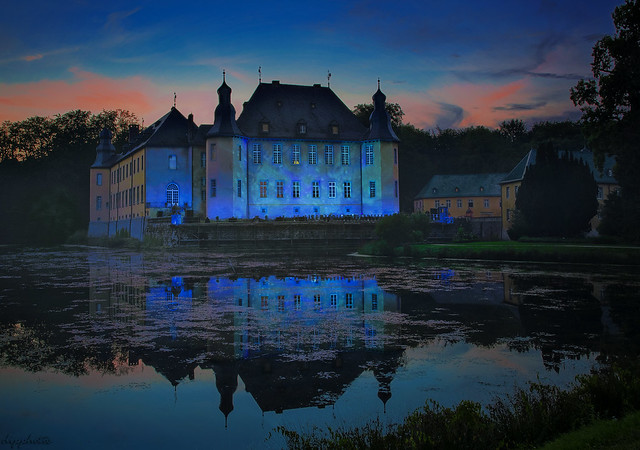 Blue Illuminated Castle