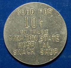 Yankton State Hospital token