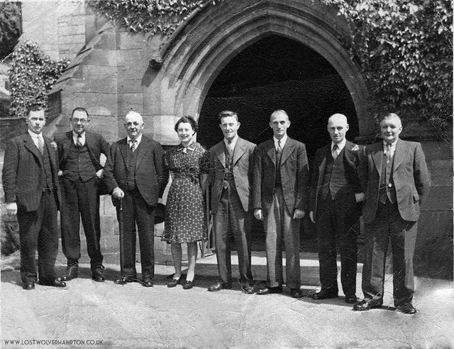 A group of bell-ringers outside Tettenhall Church.