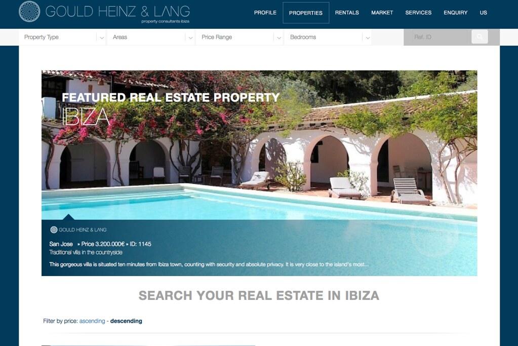 Gould Heinz & Lang, website relaunch