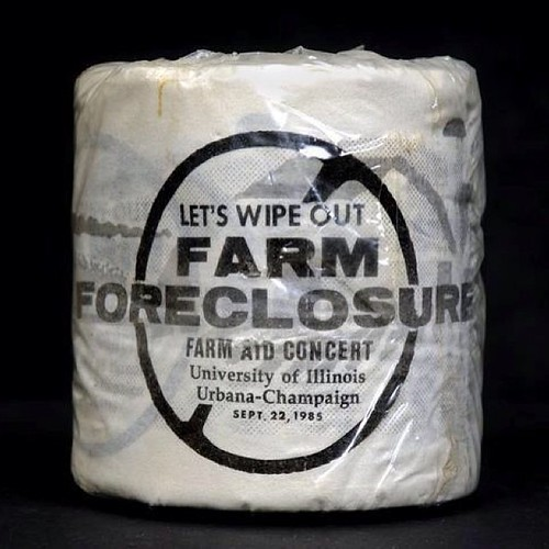 Flashback to a very questionable item at the first Farm Aid concert in 1985. An interesting way to get the message across for sure! #tbt