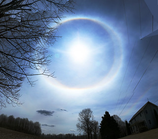 Merged Images of Ice Haloes