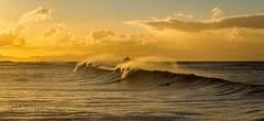 muzzpix-nz posted a photo:Facebook      500px    WebsiteA wind against swell usually produces some good drama . The surfies  were not having much luck with this swell tho . At least the sunset was sort of half decent ... main Mount Maunganui beach .