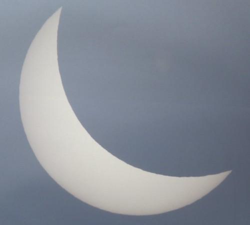 Eclipse 20 marzo 2015 - Imaxe tomada no Observatorio Astronómico Ramón María Aller (Santiago  de Compostela)