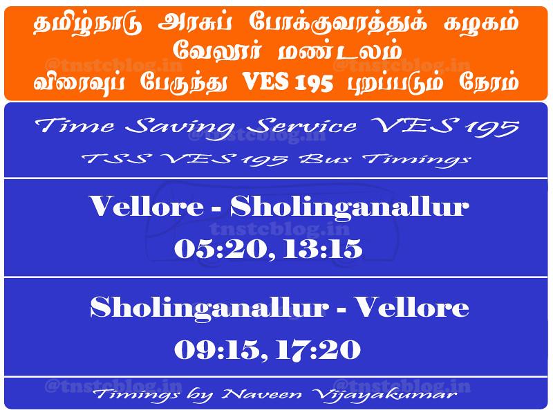 VES 195 Timings