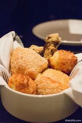 Bread service - foccacia, sesame bun, cheese bread