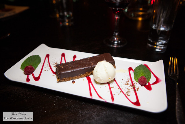 Chocolate torte with a touch of Penderyn Welsh Single Malt whisky