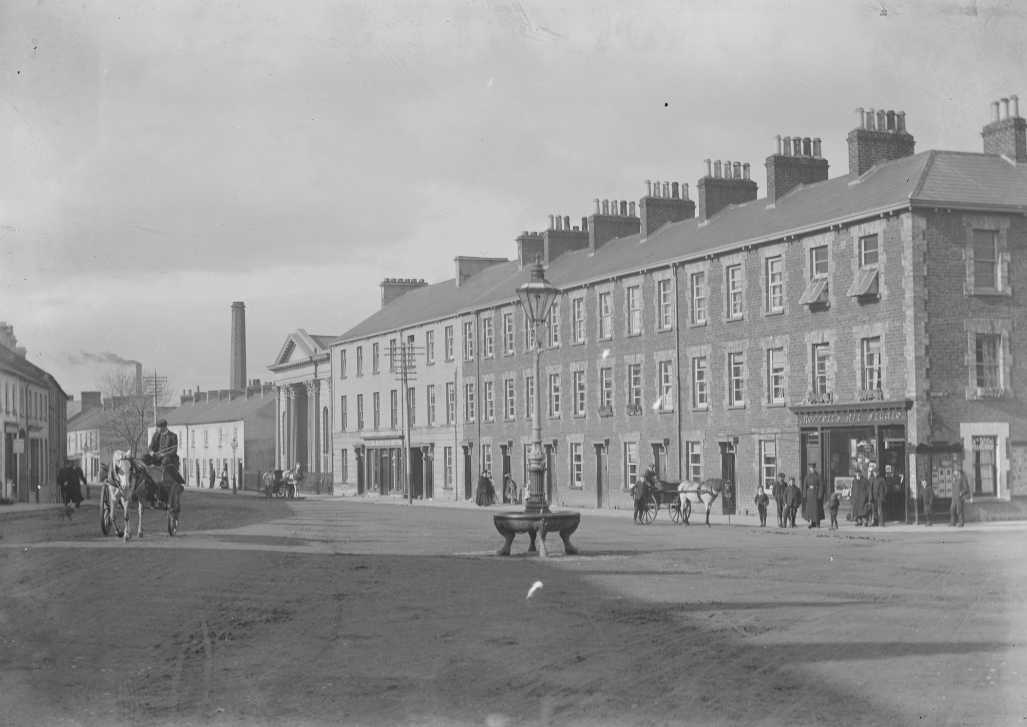 Bridge Street showing First Presbyterian Church, Portadown, Co. Armagh