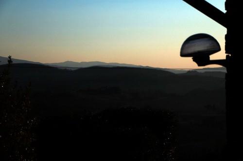 Montepulciano: tramonto sulla vallata