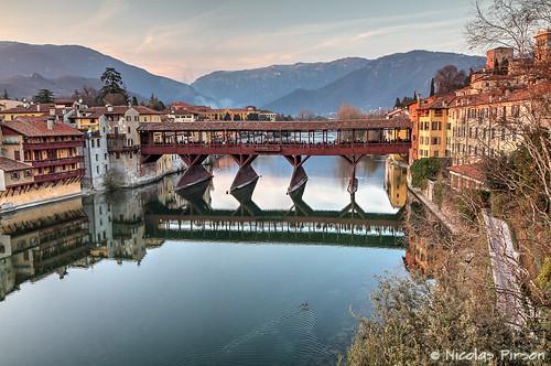 bridge italy ponte pont alpini hdr italie bassano vicenza vecchio veneto bassanodelgrappa pontedeglialpini greaterphotographers