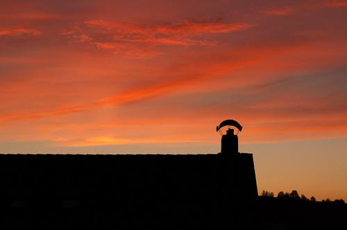 Sonnenuntergang über der Oberpfalz