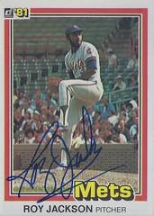 1981 Donruss - Roy Lee Jackson #36 (Pitcher) - Autographed Baseball Card (New York Mets)