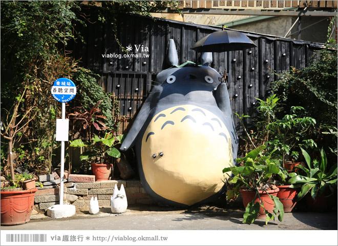 【大里龍貓】台中大里龍貓公車站《喬城站》~可愛的立體龍貓超吸睛!拍照去~2