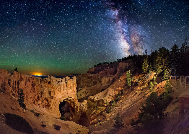 Wayne Pinkston - Natural Bridge at Night