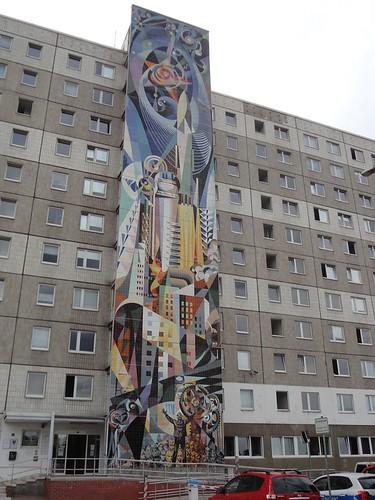 Mural a Halle-Neustadt, Josep Renau