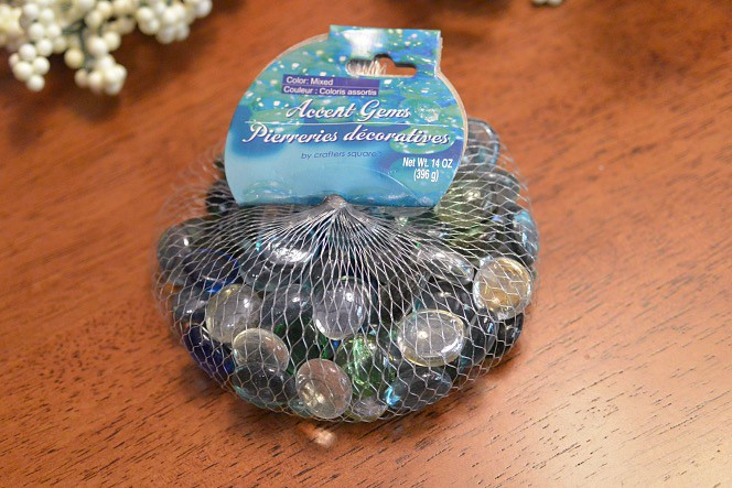 glass accent gems from Dollar Tree
