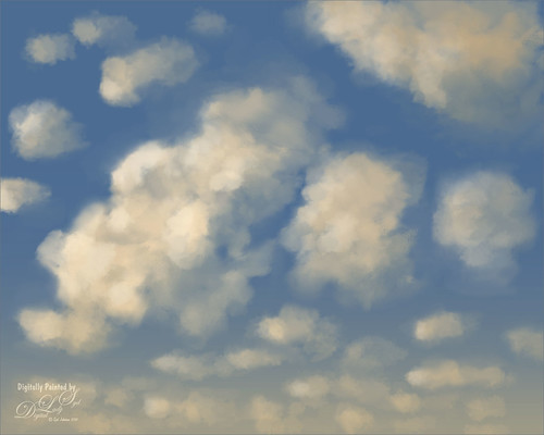 Painted Clouds using Aaron Blaise Cloud Set Brushes image