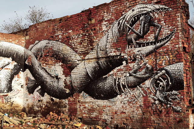 """Prey to some wild beast"" by Phlegm. Sheffield"