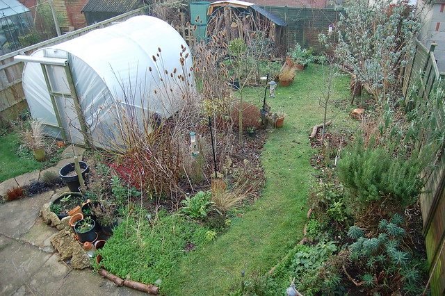 View of back garden from an upstairs window