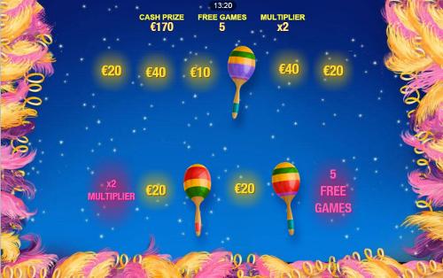 free Samba Brazil Mobile bonus game prizes
