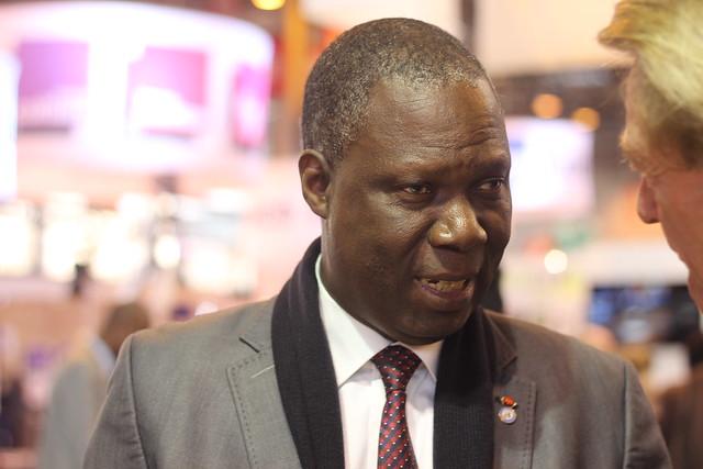 Maurice Bandaman (ministre de la Culture et de la Francophonie de la Côte d'Ivoire) - Salon du Livre de Paris 2015