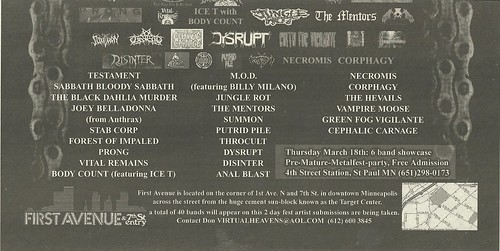 03/19 - 20/04 Minnesota Metalfest 2004 @ First Avenue & 7th Street Entry, Minneapolis, MN (Ad 2- Bottom)