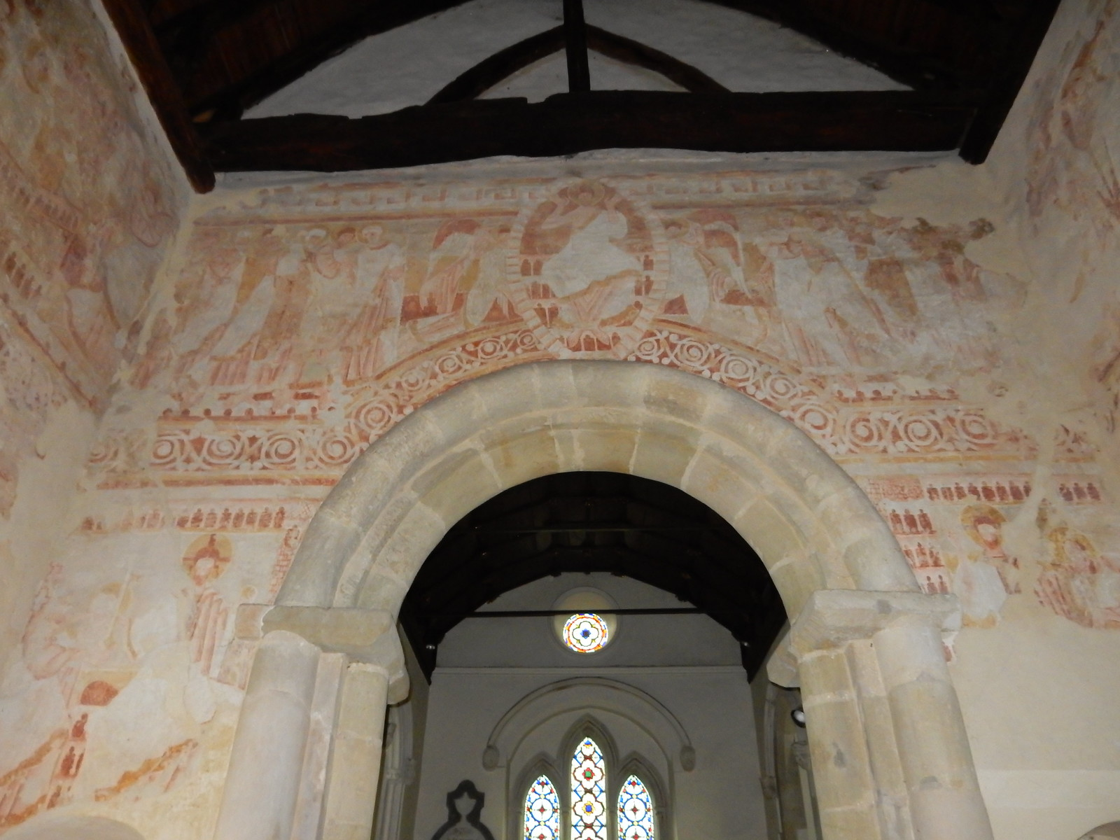 Wall paintings Clayton Church Hassocks to Lewes