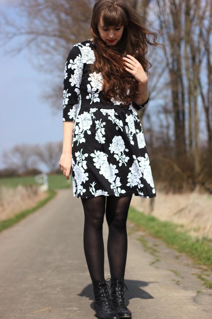 floral print dress vintage retro