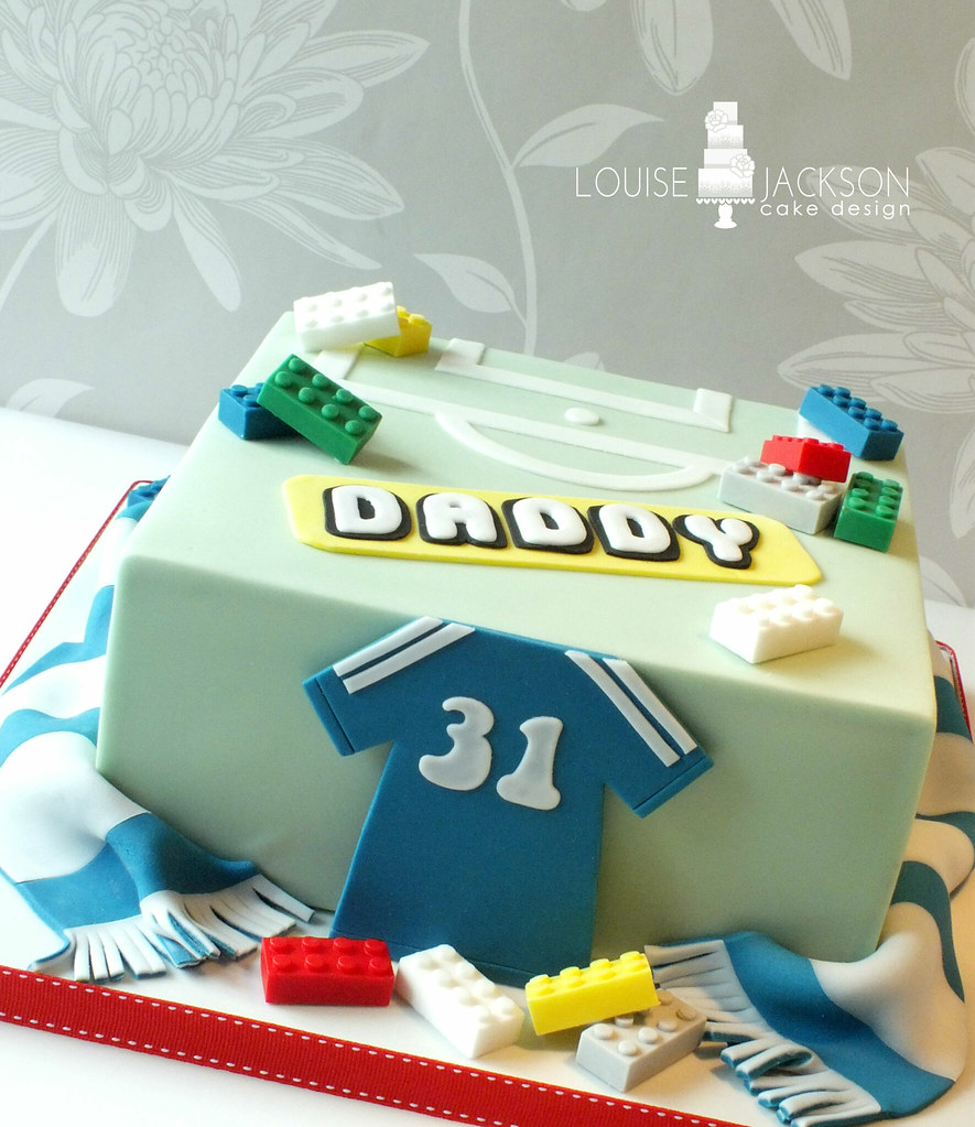 Chelsea And Lego Themed Birthday Cake