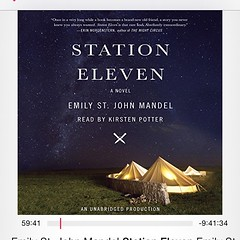 I'm a little obsessed with this book: gorgeous language, excellent plot. I've read it twice since January, and now embarking on the audio version. Highly recommended. #stationeleven, #nevernotreading