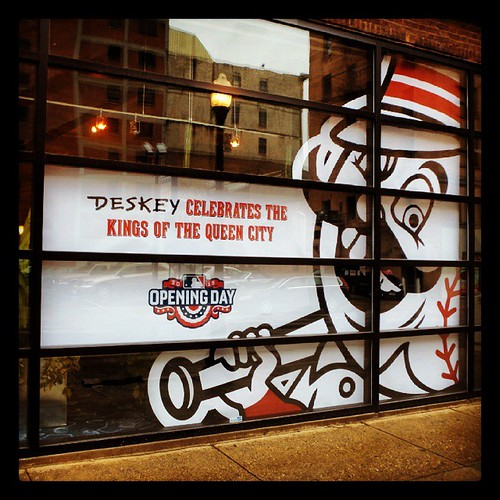 The Deskey Reds Opening Day windows are up!