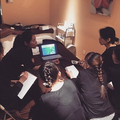 Training day with the girls at #kocoonspa with #phytomer. The premium skincare line uses concentrates from seawater, algae  as well as mineral rich sea mud...the facial feels like an ocean! Gentlemen are gonna love it too! #bestspainbeijing #bestfacials #