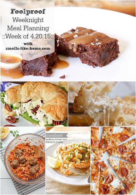 Foolproof Weeknight Meal Planning - Week of 4.20.15