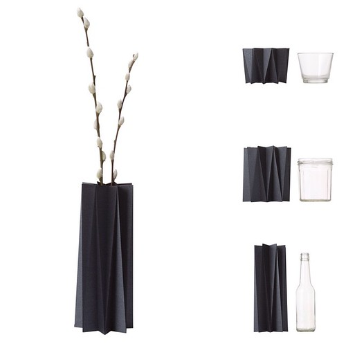 Origami Pleat Cover Vases