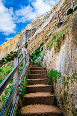 Stairs up the cliff