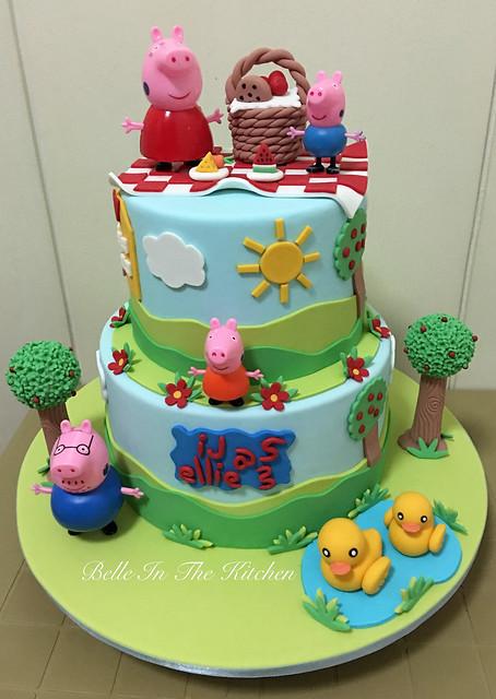 Peppa Pig Themed Cake by Maribel Laggui
