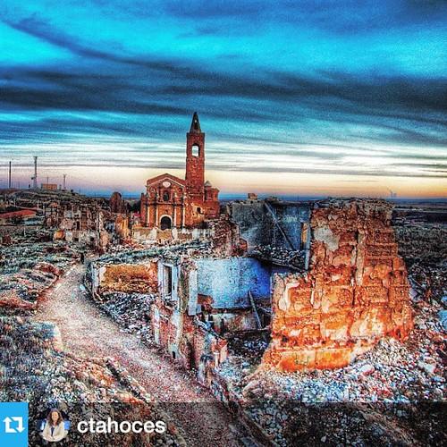#Repost @ctahoces with @repostapp.・・・Belchite Viejo. #pueblos #misterio #Spain #fotografía #photography