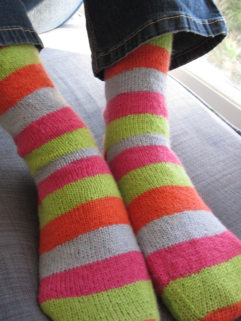 wide stripy socks  (4)