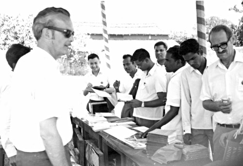 Book sales, First Asia Mennonite Conference, India, 1972