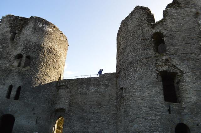 Cilgerran Castle two towers Wales