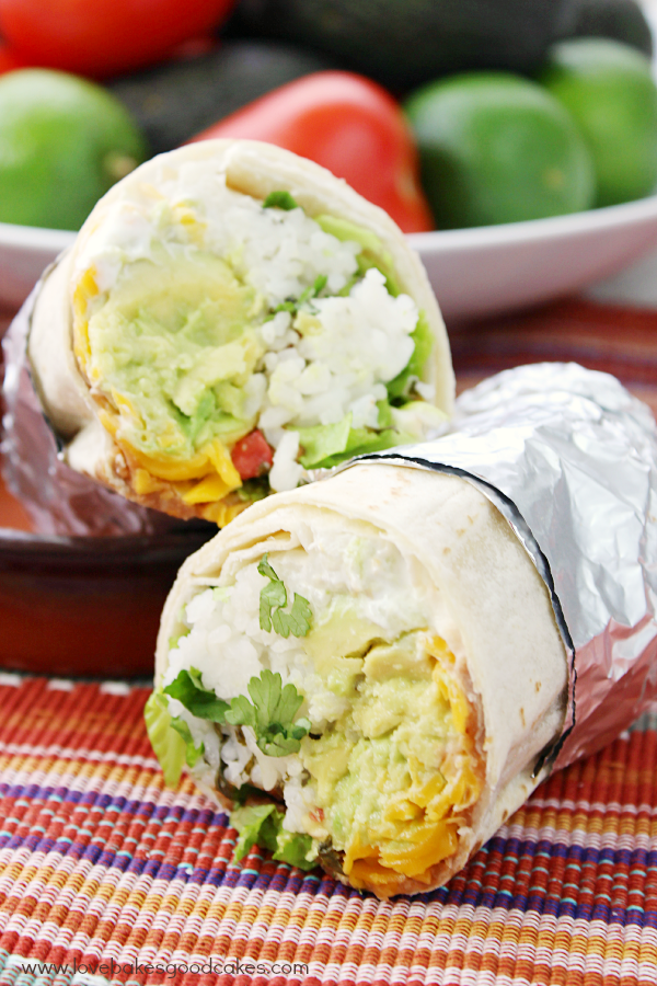 7 Layer Burritos - an easy, fuss-free meatless meal option!