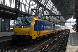 NS BR186 006 + ICRm IC Direct @ Amsterdam Centraal