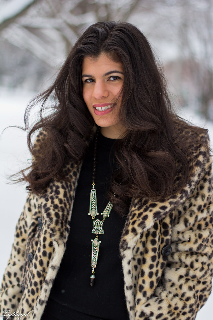 spring snow, leopard coat, black sweater-4.jpg