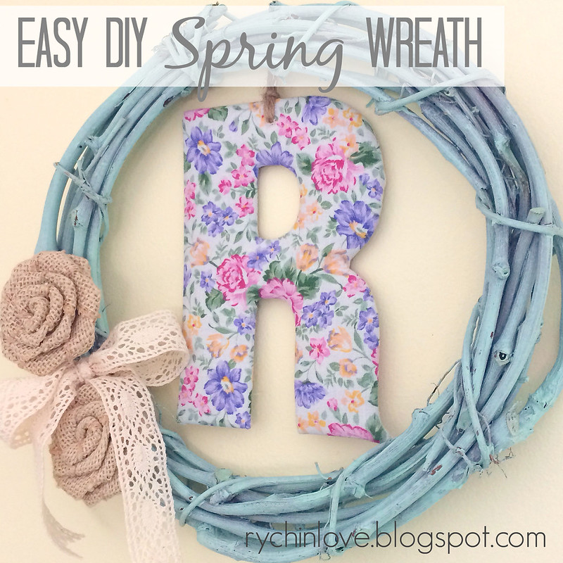 Easy DIY Spring Wreath with Target One Spot supplies