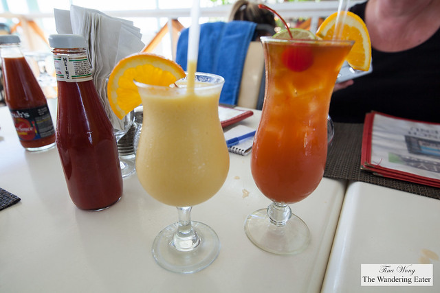 Mango smoothie and Rum Punch