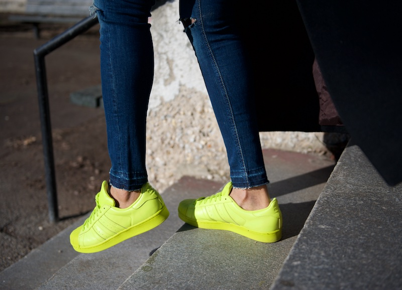 Superstar Adidas Pharrell yellow sneakers